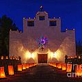 Luminaria Saint Francis De Paula Mission by Bob Christopher