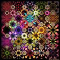Luminiscent Kaleidoctogarden by Ann Stretton