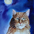Lunar Cat by Kym Stine