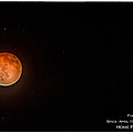 Lunar Eclipse With Spica by Janis Knight