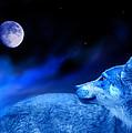 Lunar Wolf 2 by Mal Bray