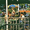 Lunch Party At The La Belle Gueule Brasserie Terrace - Park Your Bike And Enjoy The Sunny Day by Carole Spandau