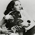 Lupe Velez With Dogs by Irving Chidnoff