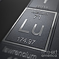 Lutetium Chemical Element by Science Picture Co