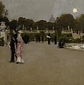 Luxembourg Gardens At Twilight by John Singer Sargent