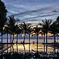 Luxury Infinity Pool At Sunset by Sophie McAulay