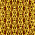 Luxury Red And Gold Christmas Kaleidoscope by Taiche Acrylic Art
