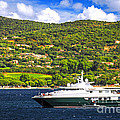 Luxury Yacht At The Coast Of French Riviera by Elena Elisseeva