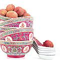 Lychees In Bowls With Spoons by Jane Rix