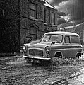 Lye Rain Storm, Ford Prefect Van - 1960's    Ref-244 by William R Hart