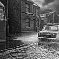 Lye Rain Storm, Morris Mini Car - 1960's    Ref-246 by William R Hart