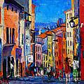 Lyon Colorful Cityscape by Mona Edulesco