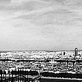 Lyon From The Basilique De Fourviere-bw by Paulette B Wright