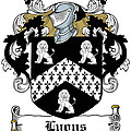 Lyons Coat Of Arms Westmeath Irish by Heraldry