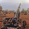M102 105mm Light Towed Howitzer  2 9th Arty At Lz Oasis R Vietnam 1969 by California Views Archives Mr Pat Hathaway Archives