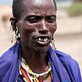 Maasai Man Portrait In Tanzania by Michal Bednarek