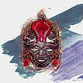 Maasai Mask - The Rain God Ngai by Serge Averbukh