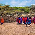 Maasai People And Their Village In Tanzania by Michal Bednarek