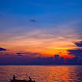 Mabul Island Sunset Borneo Malaysia by Fototrav Print