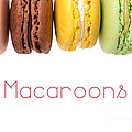 Macaroons isolated by Jane Rix
