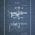 Machine Gun - Automatic Cannon By C.e. Barnes - Vintage Patent Blueprint by Serge Averbukh