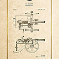 Machine Gun - Automatic Cannon By C.e. Barnes - Vintage Patent Document by Serge Averbukh