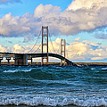 Mackinac Among The Waves by Rachel Cohen