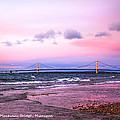 Mackinac Bridge At Sunset  by LeeAnn McLaneGoetz McLaneGoetzStudioLLCcom