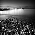 Mackinac Bridge Bw by Larry Carr