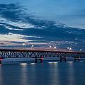 Mackinac Bridge Sunset by John McGraw