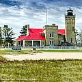 Mackinac Point Lighthouse Michigan by LeeAnn McLaneGoetz McLaneGoetzStudioLLCcom
