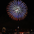 Fireworks Over The Empire State Building by Nishanth Gopinathan