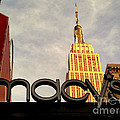 Macy's With Empire State Building - Famous Buildings And Landmarks Of New York City by Miriam Danar
