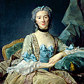 Madame De Sorquainville, 1749 Oil On Canvas by Jean-Baptiste Perronneau