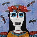 Madame Dragonfly Day Of The Dead by Jean Fry