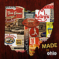 Made In Ohio Products Vintage Map On Wood by Design Turnpike