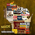 Made In Wisconsin Products Vintage Map On Wood by Design Turnpike