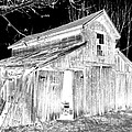 Madeline S Barn - Black And White by Nina-Rosa Duddy