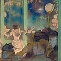 Mademoiselle Becat At The Cafe Des Ambassadeurs by Edgar Degas