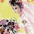 Mademoiselle Cover Featuring A Bride by Helen Jameson Hall