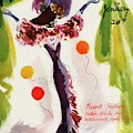 Mademoiselle Cover Featuring A Model Wearing by Helen Jameson Hall