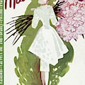 Mademoiselle Cover Featuring A Woman Carrying by Elizabeth Dauber