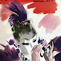Mademoiselle Cover Featuring A Woman Looking by Helen Jameson Hall