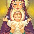 Madonna And Baby Jesus by Zorina Baldescu