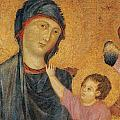 Madonna And Child Enthroned  by Cimabue