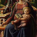 Madonna And Child Enthroned With Two Angels by Fra Filippo Lippi