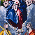 Madonna And Child With Saint Martina And Saint Agnes by  El Greco Domenico Theotocopuli