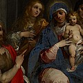 Madonna And Child With Saints John The Baptist With Mary Magdalene And Anne by Guiseppe Cesari
