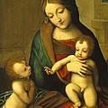 Madonna And Child With The Infant Saint John by Antonio Allegri Correggio