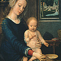 Madonna And Child With The Milk Soup by Gerard David